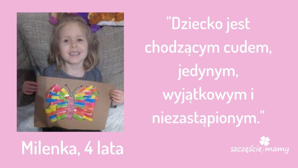 Prace konkursowe z papieru kolorowego i cytaty o dzieciach